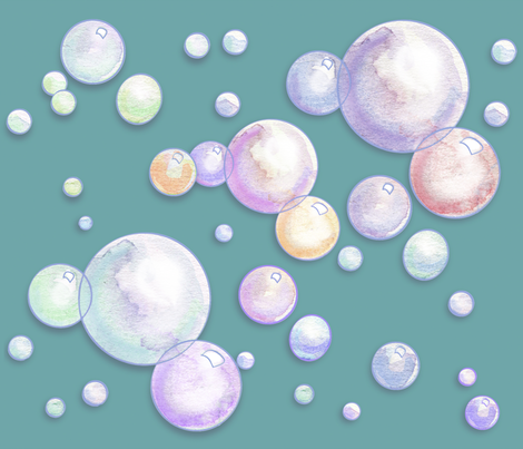 Bubbles_Teal fabric by empress_creative on Spoonflower - custom fabric