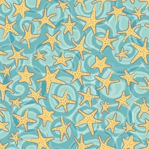 Starfish and Ocean Waves