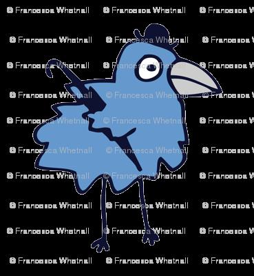 Business bird - blue on white