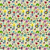 Ducks & Frogs in the Garden - Cream