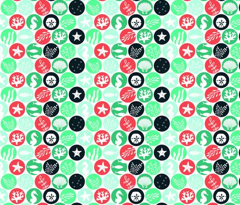 Ocean Dots fabric by lellobird on Spoonflower - custom fabric