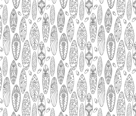 West Coast Coloring Book: Boarding Call fabric by snowflower on Spoonflower - custom fabric