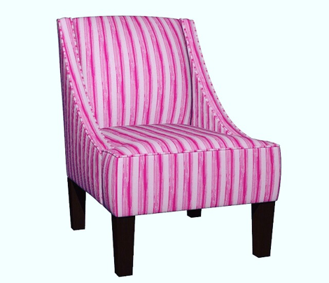 Hot Pink Painted Stripe_Miss Chiff Designs
