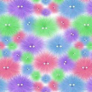 Hairy Beastie Warm Fuzzy Rainbow Random