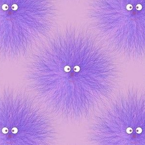 Hairy Beastie Warm Fuzzy Purple