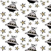 Spaceships  Among The Stars