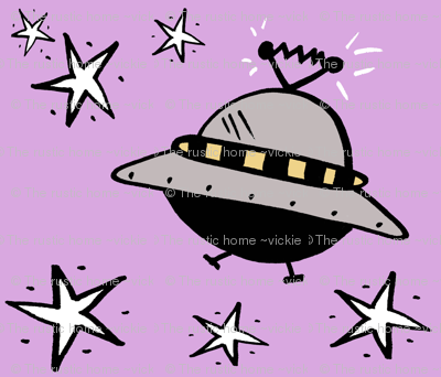 Spaceships Among The Stars in Violet