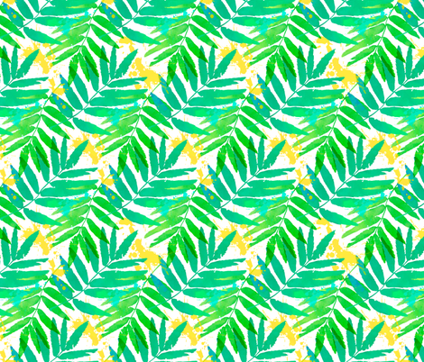 Watercolor leaves fabric by art_of_sun on Spoonflower - custom fabric