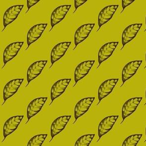 Drifting Autumn Leaves on Green Tea