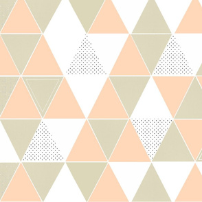 Blush Taupe Dot Triangles