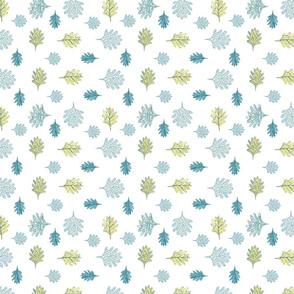Acorn leaf coordinate print
