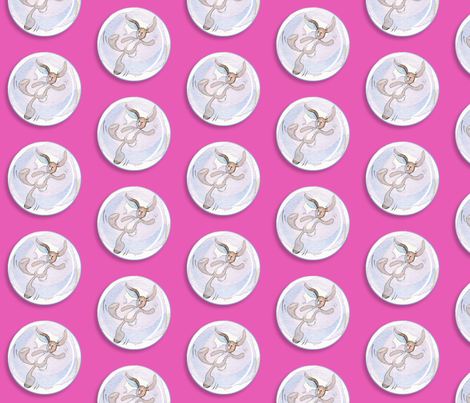 Bunny_Bubble_hotpink fabric by empress_creative on Spoonflower - custom fabric