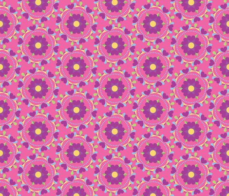 Heart Flowers fabric by juliematthews on Spoonflower - custom fabric