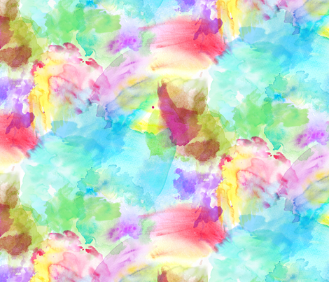 Tie Dye Rainbow Watercolor fabric by xoxotique on Spoonflower - custom fabric