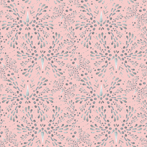 Silver Twinkle in Rose Quartz fabric by christinemay on Spoonflower - custom fabric