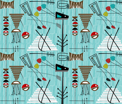 Mid-Century Chaol ll fabric by gigirn46@aim_com on Spoonflower - custom fabric