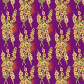 hollyhocks-purple