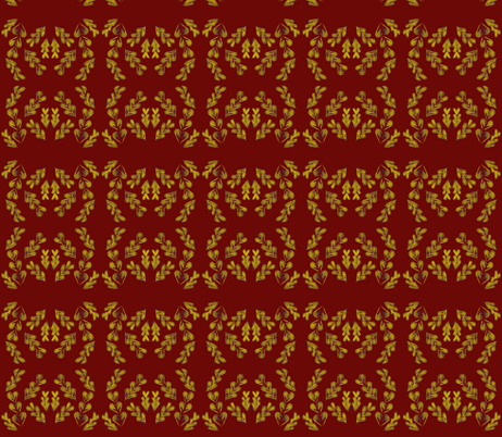 Sweetheart Wreaths on Tawny Port fabric by rhondadesigns on Spoonflower - custom fabric