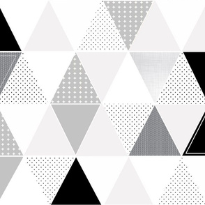 Pattern Play Triangles Gray