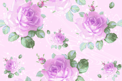 Bluma Floral clover fabric by lilyoake on Spoonflower - custom fabric