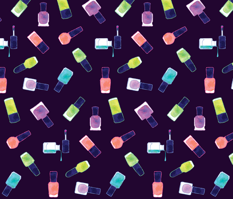 nail polish in colors  fabric by pinkowlet on Spoonflower - custom fabric