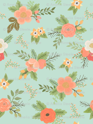 Sweet Bouquets //  Mint and Coral