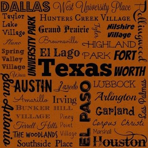 Cities of Texas, orange