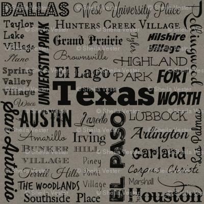 Cities of Texas, gray