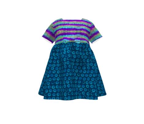 Layered Stripe Purple Blue Tie Dye