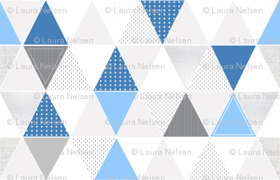 Pattern Play Triangles Blues