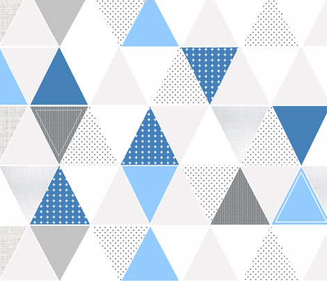 Pattern Play Triangles Blues fabric by tycdesignco on Spoonflower - custom fabric
