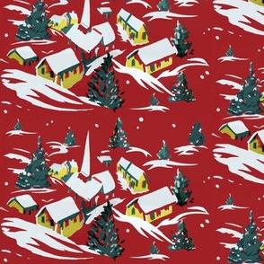 Retro Christmas Village