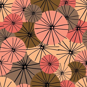 Abstract Floral Pinks