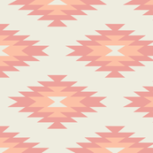 Navajo - Cream, Coral, & Peach