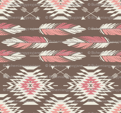 Native Roots - Brown, Coral, & Pink
