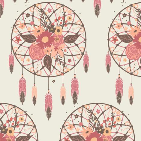 Harmony Dreamcatcher fabric by bohemiangypsyjane on Spoonflower - custom fabric