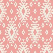 Aztec - Coral & Cream