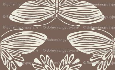 Butterflies- Brown & Cream