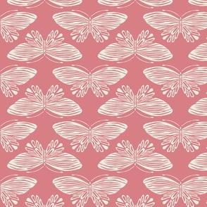 Butterflies - Pink & Cream