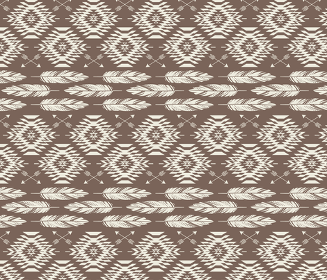 Native Roots - Brown & Cream fabric by bohemiangypsyjane on Spoonflower - custom fabric