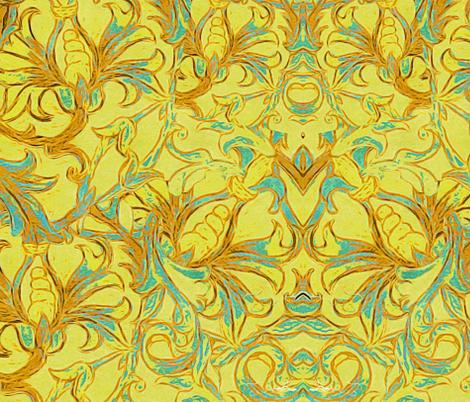 Yellow Vine fabric by cruzangirl on Spoonflower - custom fabric