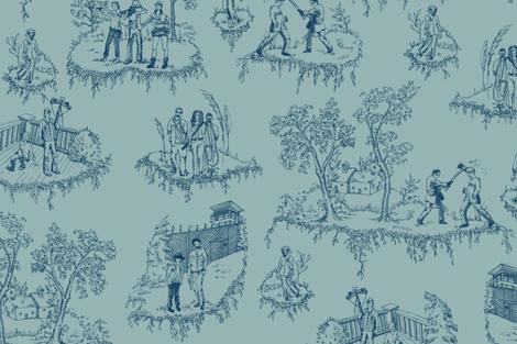 Walking Dead Toile de jouy fabric by julieprescesky on Spoonflower - custom fabric
