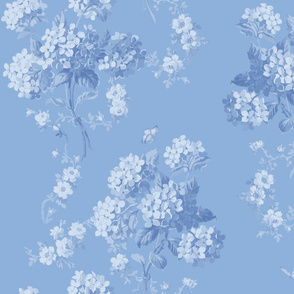 Edwina Floral faded blueberry