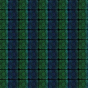 Celtic Square Knot 1 -blue to green vertical