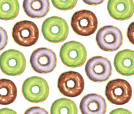 Donuts fabric by julia_dreams on Spoonflower - custom fabric