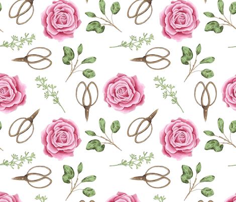 Garden Rose fabric by julia_dreams on Spoonflower - custom fabric