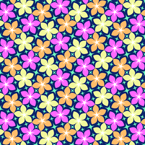 05390489 : S43 floral : hawaiian blooms in may fabric by sef on Spoonflower - custom fabric