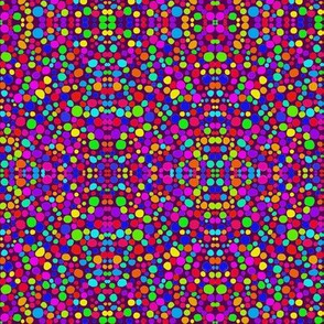 Rainbow Dots Mosaic on Crushed Grape