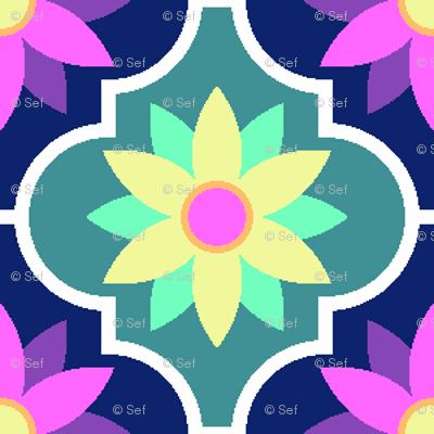 c-rhombus flower : hawaiian