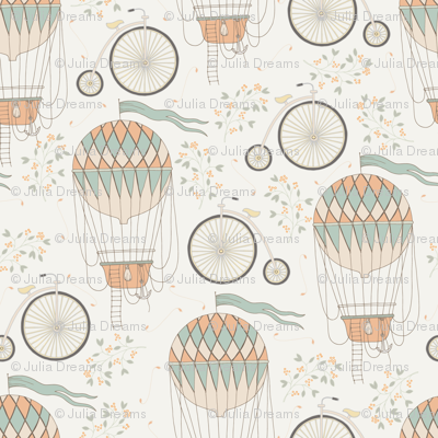 Vintage Bicycle and Air Balloon